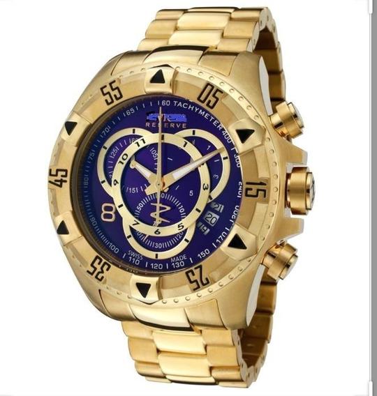 Relógio Masculino Dourado Robusto Aço Luxo Pesado Envio Já