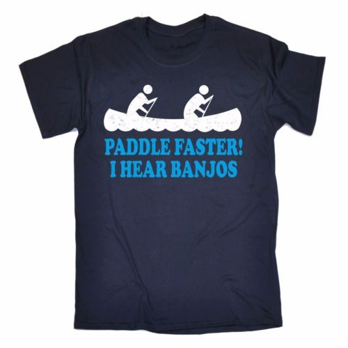 Camiseta Country Redneck Paddle Faster I Hear Banjos