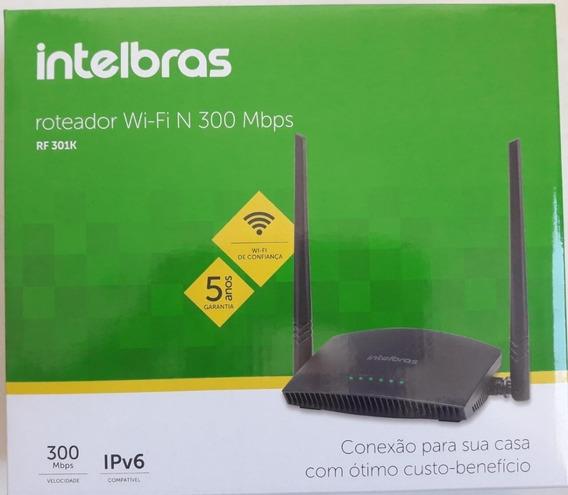 Roteador Wireless 300mbps Intelbras Rf 301k, 2 Antenas, Wps