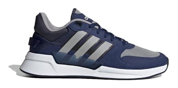 Zapatillas adidas Running Hombre Run 90s Azul - Gris Cli