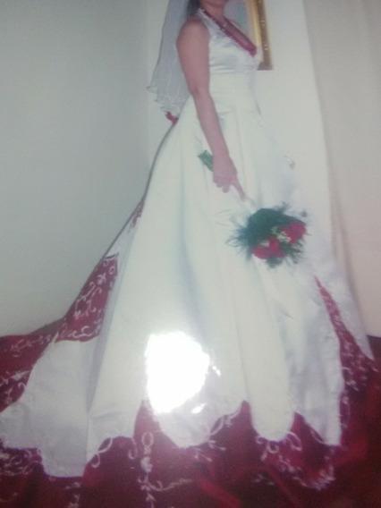 Vestido De Novia Diseño Unico Usado.