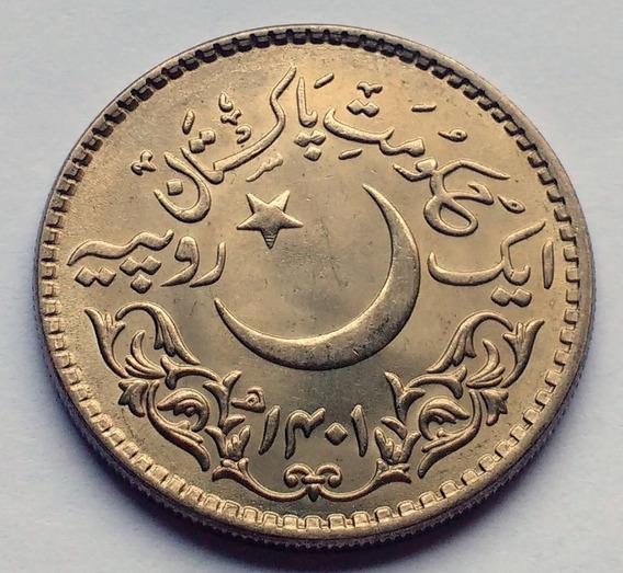 Moneda De Pakistán, 1 Rupee 1981. Sin Circular.