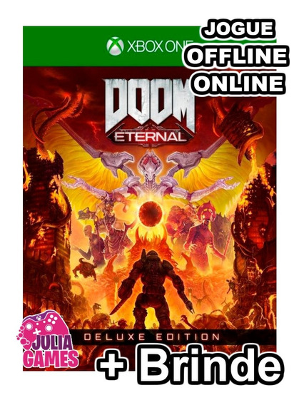 Doom Eternal Deluxe Edition Xbox One Midia Digital + Brinde