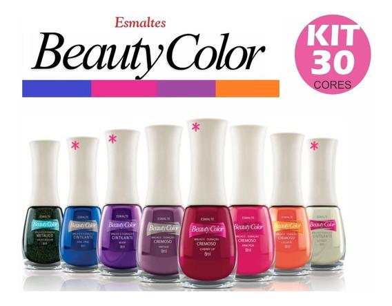 Kit 30 Esmaltes Beauty Color Atacado