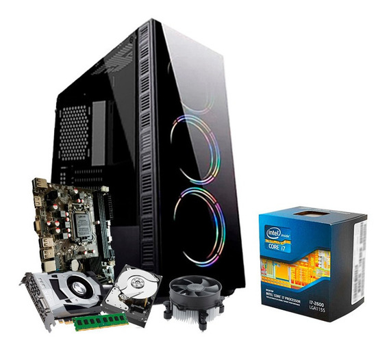 Pc Gamer I7, 16gb, Hd 1tb, Geforce 4gb 1050 Gtx Ti + Nfe