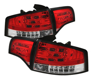 Lanterna Led Audi A4 2005 A 2008 Cristal Red