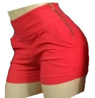 Shorts Com Ziper Lateral Lindo