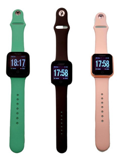 Kit 3 Pulseiras Coloridas Silicone Smartwatch Champion/apple