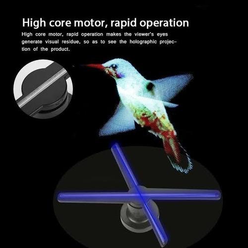 #3 Neufday Proyector de Holograma 3D A3W 3D Fan Hologr/áfico M/áquina de Publicidad 224LED Cuentas de l/ámpara PC WiFi Versi/ón 16G 110-240V