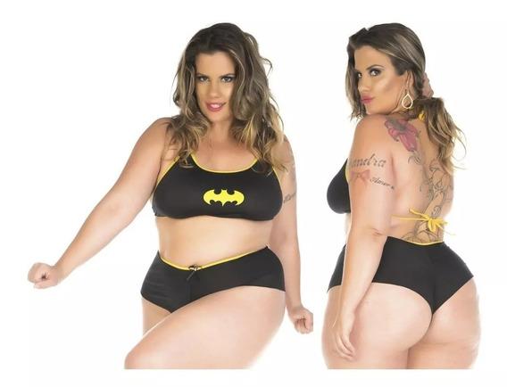 Mini Fantasia Sensual Batgirl Plus Size Sexy