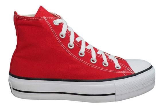 Tênis Converse Chuck Taylor All Star Platform Hi Vermelho