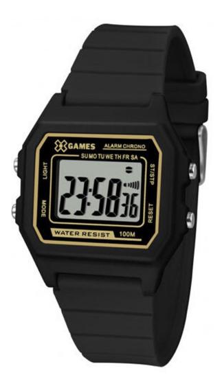 Relógio Preto Infantil Masculino X-games Digital Quadrado