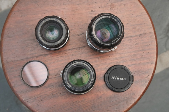 Kit De Lentes Nikon (28mm, 50mm E 105mm)