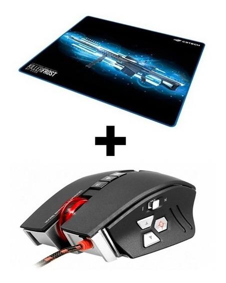 Mouse Blood Zl50a C/macro + Mouse Pad Grande Em Promoção