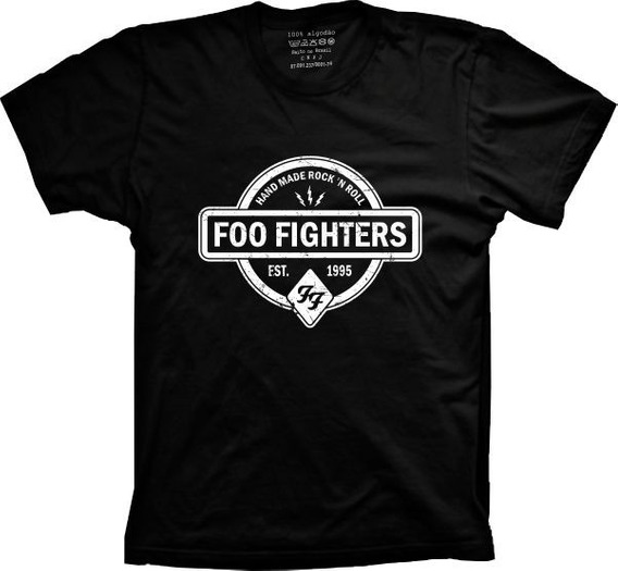 Camiseta Foo Fighters Vários Tams. Plus Size G1 G2 G3 G4