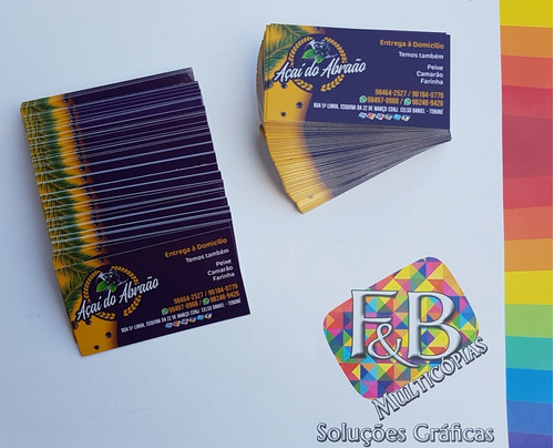 Cartão De Visita Frente Colorido