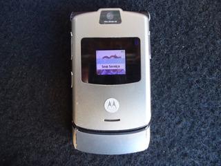 Celular Motorola V3 Funcionando Antigo - Bateria Carregador