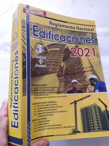 Imagen 1 de 10 de Libro Reglamento Nacional De Edificaciones 2021 Actualizado