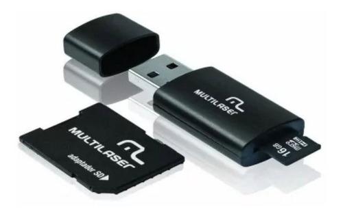 Cartão De Memória 3x1 Micro Sd 16gb + Pendrive + Sd Mc112