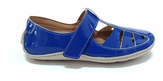 Sapatilha Peace Verniz Azul. Muito Confortável!