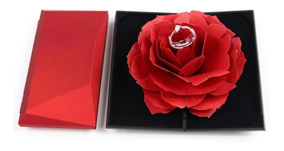 Caja De Regalo Anillo Rosa Para Compromiso Boda 14 Febrero