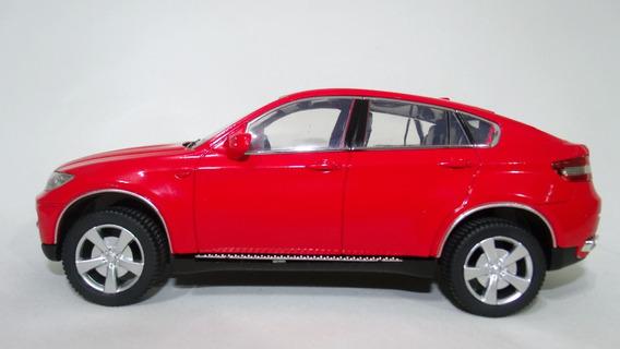 Miniatura Bmw X6 Vermelha Escala 1:24 Com Iluminação.