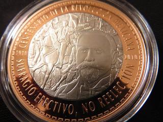 Moneda Bimetalica Bicentenario Centenario Revolucion Indepen