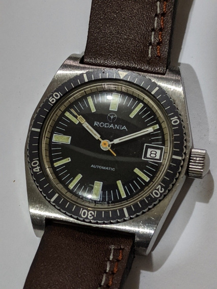 Reloj Diver Vintage Rodania Big Crown