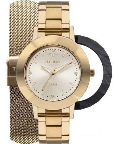 Rel Technos Fashion Dourado 2 Pul