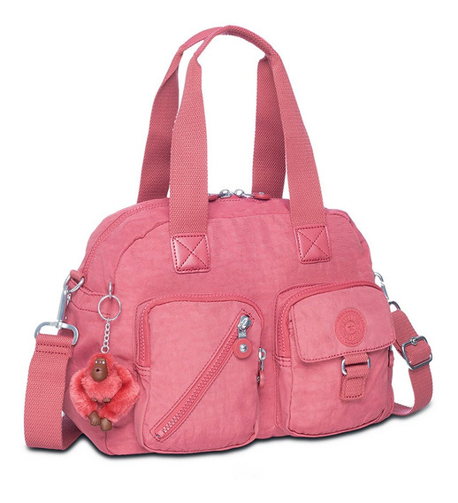 Bolsa Transversal Defea Rosa Smooth Berry Kipling