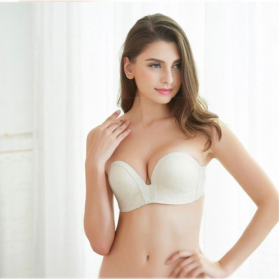 Brasier Strapless Push Up Lenceria Sexy