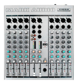 Mesa Mixer 8 Canais Mark Audio Cms8 Phanton/pan Cms-8