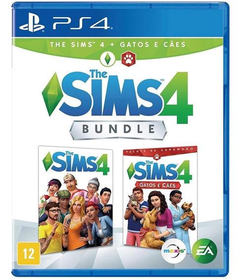 Bundle The Sims 4 + Gatos E Cães Ps4 Mídia Física