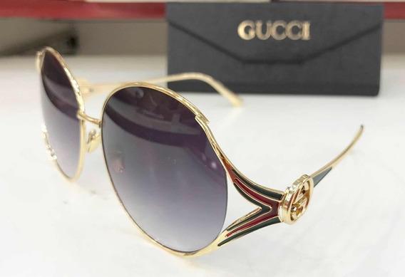 Óculos De Sol Gucci Feminino Grande