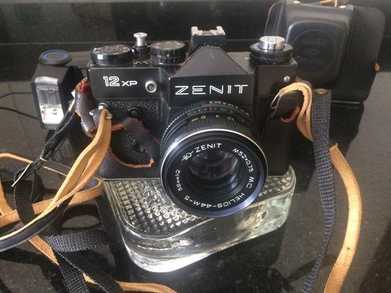 Zenit 12-xp Lente 58mm 1.2 - Urss + Flash Mirage - Camera