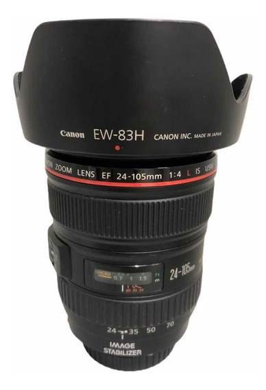Lente Objetiva Canon 24-105 1:4 L Is Usm Seminova Impecável
