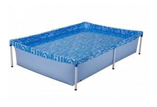 Piscina estrutural azul MOR 001002 retangular 1.89m de comprimento x 1.26m de largura