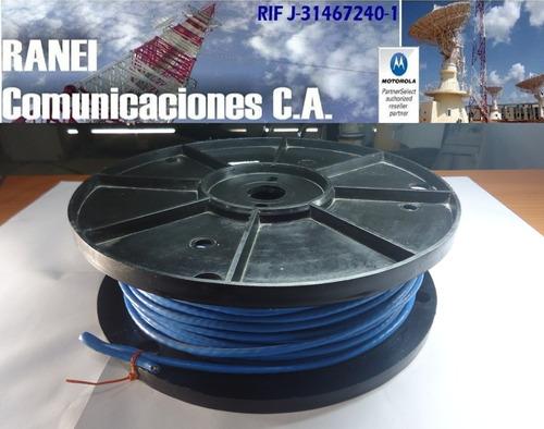 Cable Utp Cat5 100% Cobre 100mts 4 Pares Interior Azul