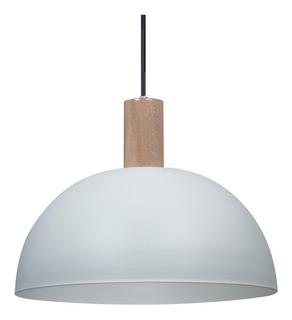 Lámpara Plafón Colgante Techo Nórdico 38cm Madera Moderna