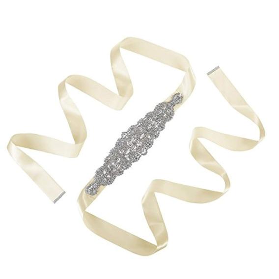 Awaytr Cinturón De Novia Con Diamantes Imitación