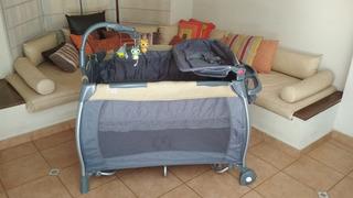 Baby One Practicuna Completa 2 Alturas Cambiador C/colchón