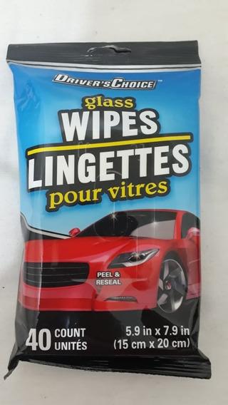 Wipes Lenço Limpador P/ Carro Vidros Couro Vinil C/40