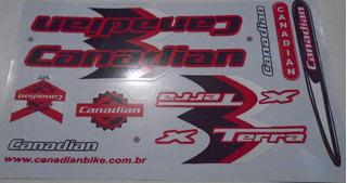Adesivo Cartela Canadian Terra Preto / Vermelho .