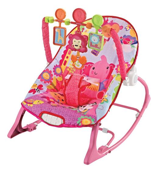 Cadeira De Descanso Musical Funtime Maxi Baby Até 18kgs Rosa