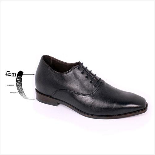 Zapato Formal Elegant Negro Max Denegri +7cms De Altura