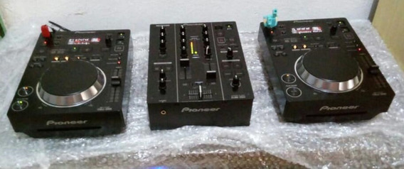 Par De Cdj 350 + Mixer Djm 350, Kit Completo