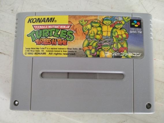 Tartarugas Ninjas Original Japonês Nintendo Super Famicom.