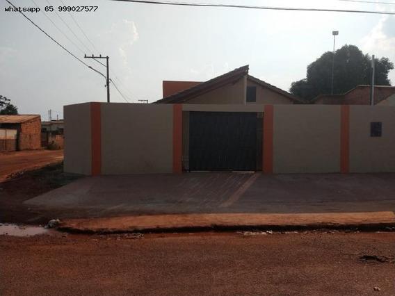 Casa Para Venda Em Várzea Grande, Santa Isabel, 2 Dormitórios, 1 Banheiro, 2 Vagas - 212_1-1305522