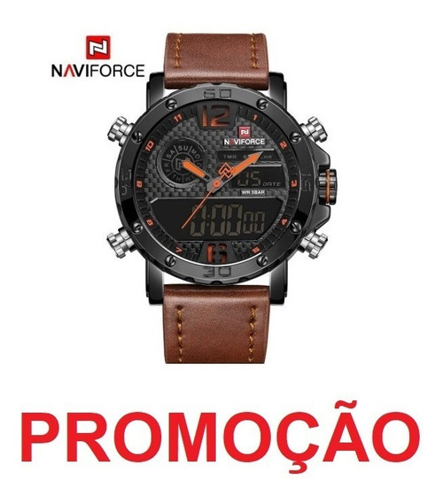 Relógio Naviforce 9134 Masculino Digital Militar Sport Luxo
