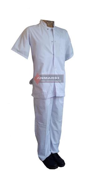 Ambo Medico Blanco: Pantalon Y Chaqueta Calidad Premium